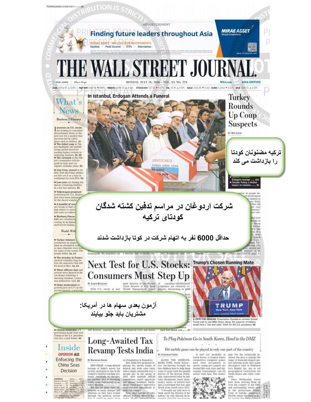 روزنامه وال استریت ژورنال کشور امریکا