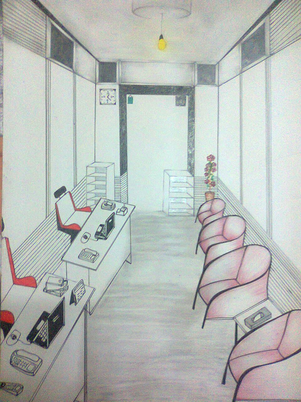 تصویر نقاشی شده ار اتاق پذیرش