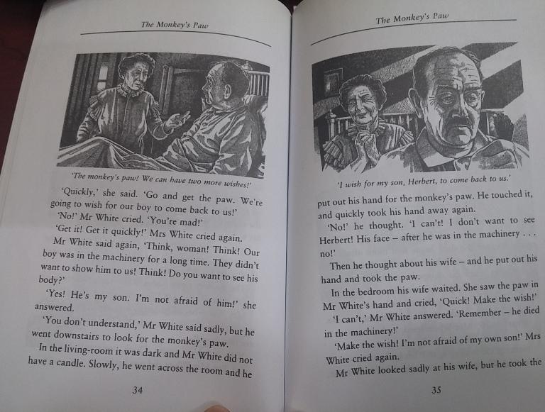ترجمه کتاب انگلیسی پنجه میمون