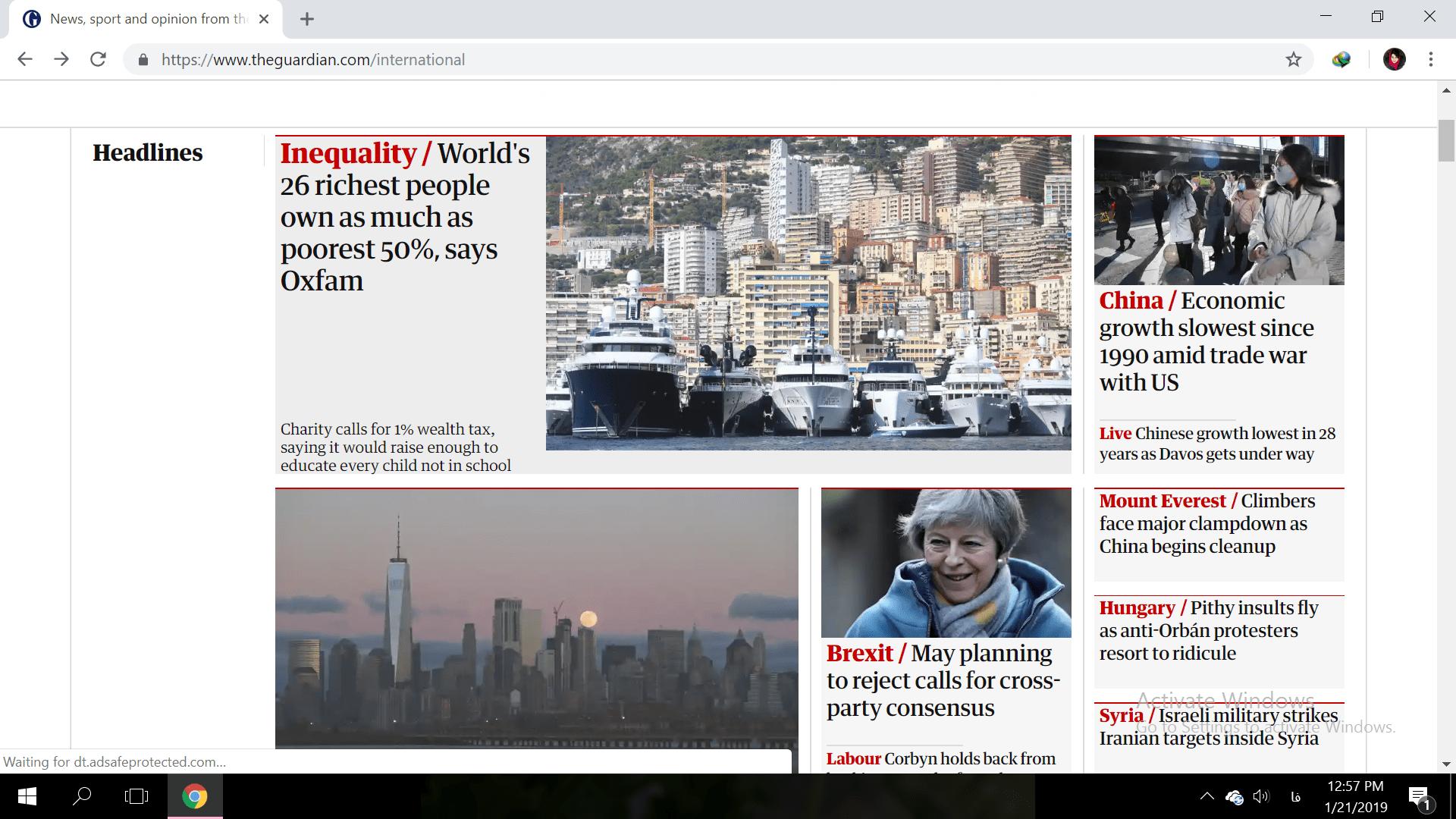 روزنامه گاردین 21 ژانویه